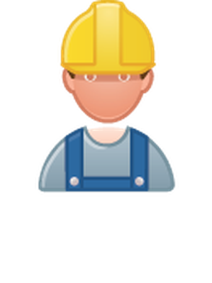 Professions - Color - Construction Worker | Clipart