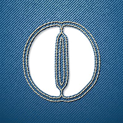Denim Jeans: Letter O | Clipart