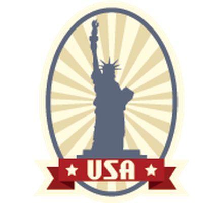 Travel Labels or Badges - USA | Clipart