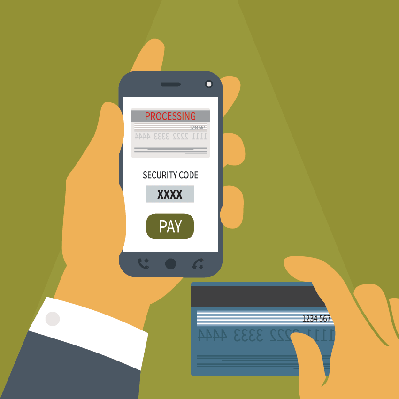 Concept of Mobile Payment on Smartphone | Clipart