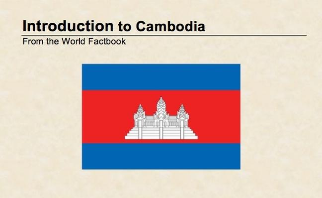 Introduction to Cambodia