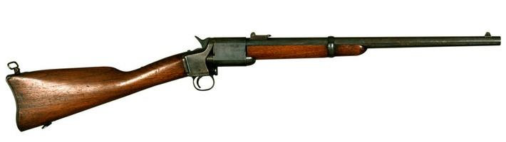 photo of a long rifle used by Union soldiers