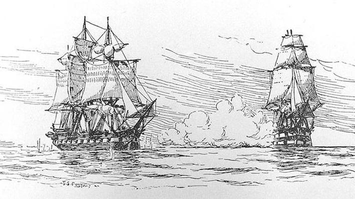 HMS Leopard vs. USS Chesapeake Image
