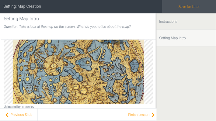 Literary Map Creation