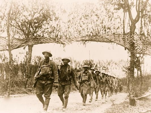 U.S. Army African-American Unit, Marching in World War I | African-American History