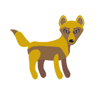 Animals of Australia - Dingo | Clipart