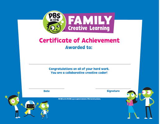 Certificate - Family Creative Learning | RTL 2015-2020