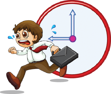 Late Businessman | Clipart