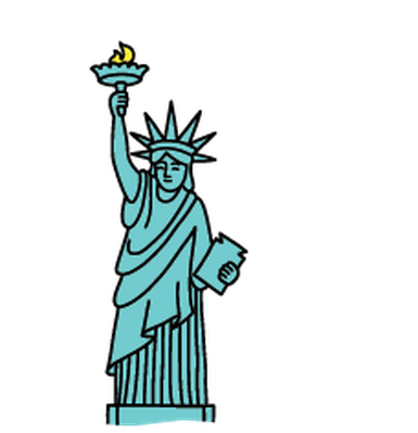 Landmarks - Statue of Liberty | Clipart