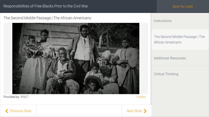 Responsibilities of Free Blacks Prior to the Civil War