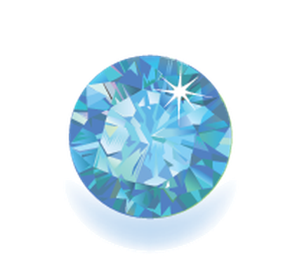 Colored Gems: Round Shape, Top View | Clipart
