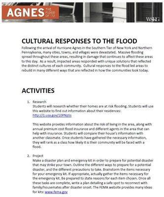 Cultural Responses to the Flood | Activities
