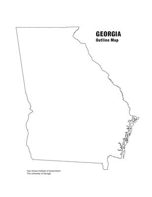 Map of Georgia Worksheet