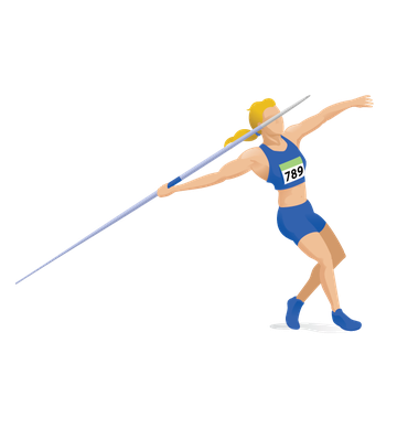 Women's Javelin - Withdrawal | Clipart