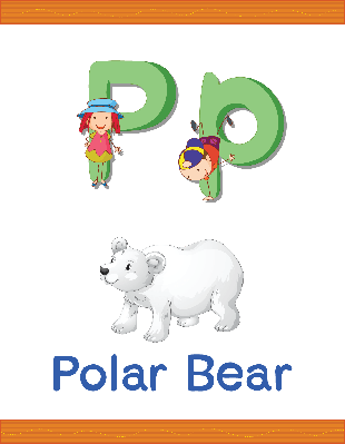 Alphabet Worksheets - P for Polar Bear | Clipart