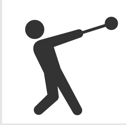 Athletics and Gymnastics Icon Set - Hammer Throw | Clipart