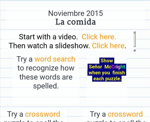 Stowe Spanish - Noviembre 2015
