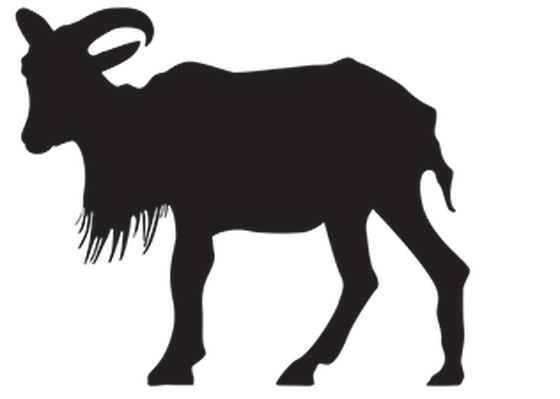 Animal Silhouettes - Goat | Clipart