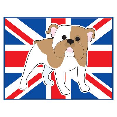 English Bulldog Flag | Clipart