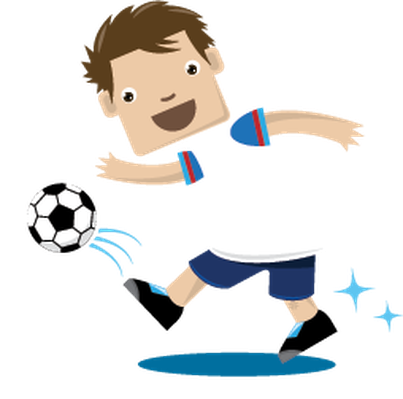 Children Playing Sports - Soccer | Clipart