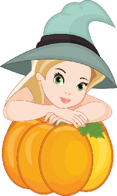 Beautiful Witch | Clipart