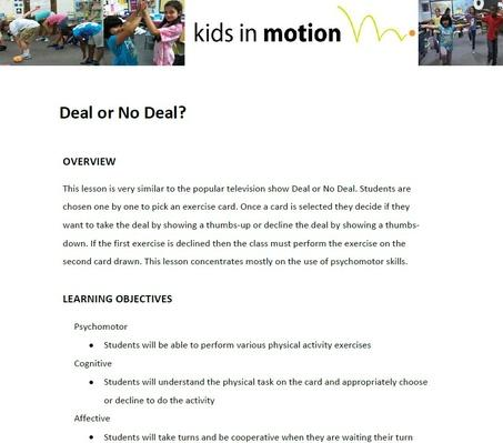 Deal or No Deal Lesson Plan