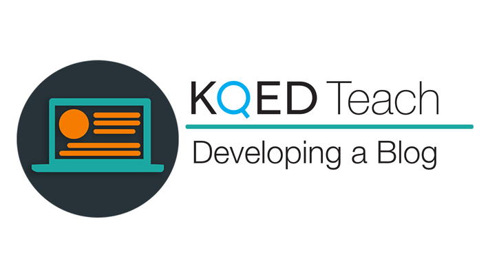 KQED logo with text developing a blog