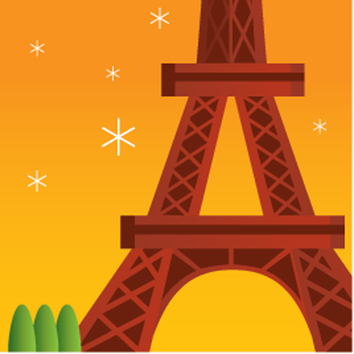 Travel Destinations - Eiffel Tower | Clipart