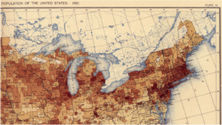 Distribution of Foreign Born Population of United States 1890