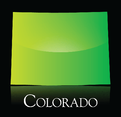 Colorado green shiny map | Clipart