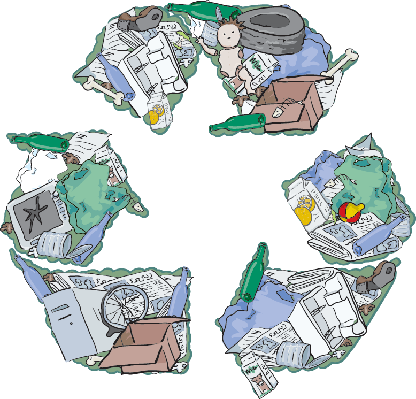 Recycle Your Rubbish | Clipart