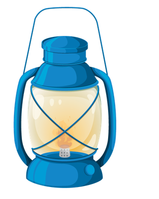 Various Objects of Camping - Lantern | Clipart