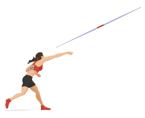 Women's Javelin - Delivery | Clipart