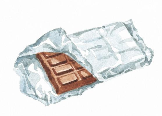 Bar of Chocolate in Silver Wrapper | Health and Nutrition