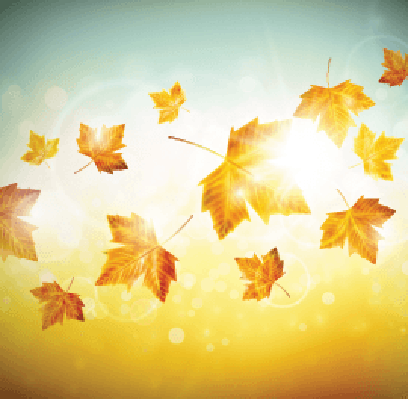 Four Seasons Scenery - Autumn Leaves | Clipart