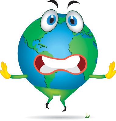 Cartoon (Planet Earth With a Face) | Clipart