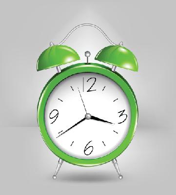 Green Alarm Clock | Clipart