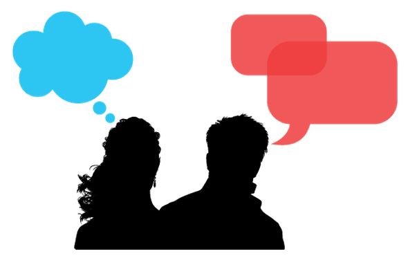 Speaking Heads and Speech Bubble | Clipart