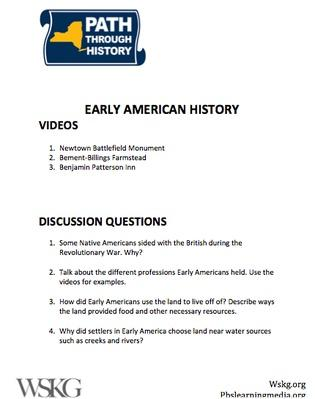Early American History Discussion Questions