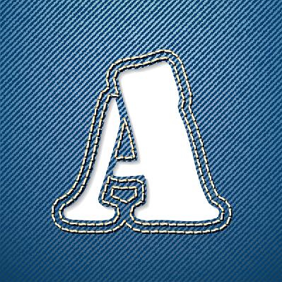 Denim Jeans: Letter A | Clipart