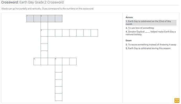Earth Day | Grade 2 Crossword