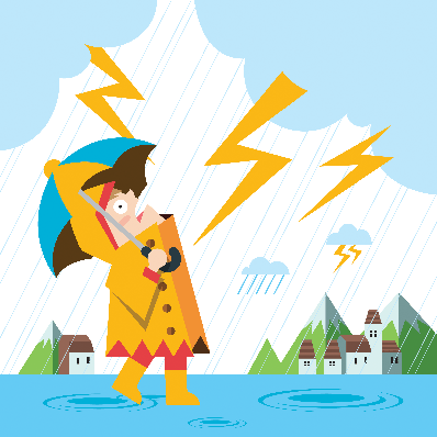 Rain and Thunder | Clipart