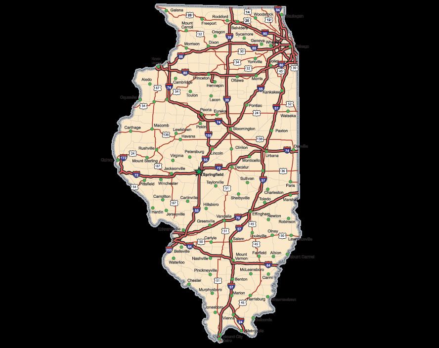 Illinois Highway Map   Clipart   PBS LearningMedia
