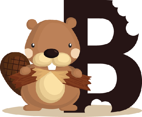 Alphabet B for Beaver | Clipart