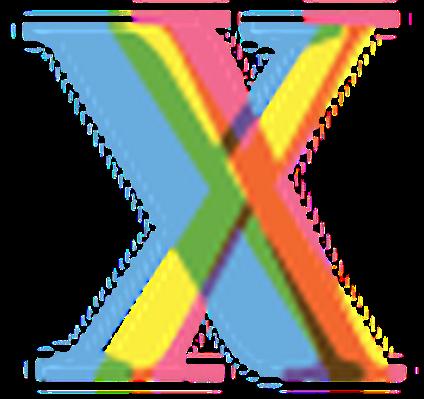 Four-Color Alphabet Letters - X | Clipart