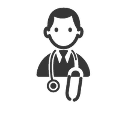 Professions - Black & White - Doctor | Clipart