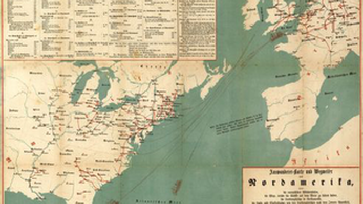 Emmigrant Map to North America