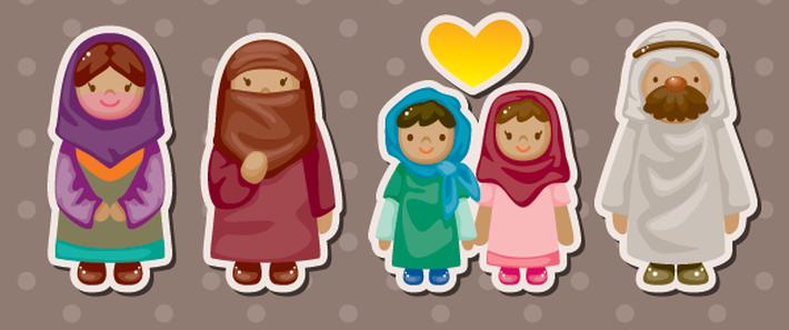 Cartoon Arabian People Stickers | Clipart