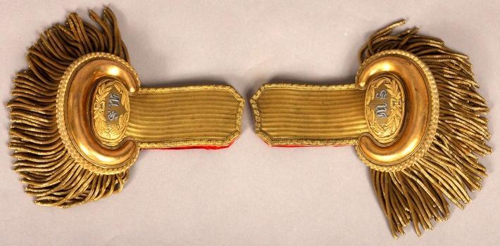 gold fringed epaulettes from a Civil War era U.S. Navy uniform