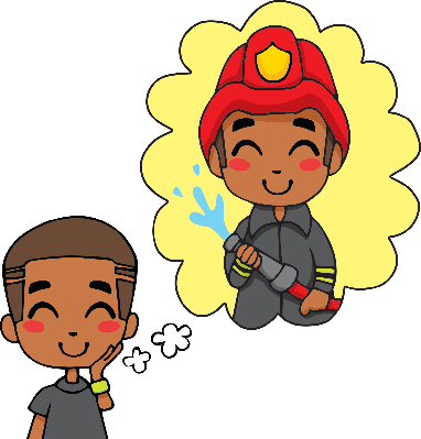 Cute Fireman Boy | Clipart
